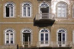 Fönster Guimaraes Portugal Arkivbilder