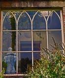 Fönster Huntington slott, Co Carlow Irland Arkivfoto