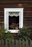 Fönster i byn Fotografering för Bildbyråer