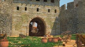 Fönster i fästningen Fotografering för Bildbyråer