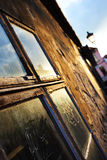 Fönster i huset arkivbild