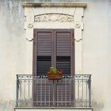 Fönster i Ragusa Fotografering för Bildbyråer
