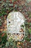 Fönster i trädgårds- staket Royaltyfria Bilder