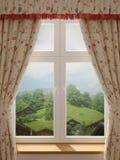 Fönster med en härlig sikt vektor illustrationer