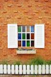 Fönster med Glass färg Arkivfoto
