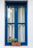 Fönster med hydraangea Royaltyfri Fotografi
