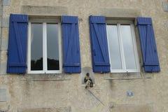 Fönster med ramar Fotografering för Bildbyråer