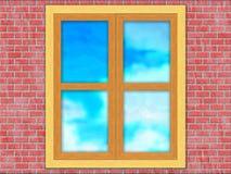 Fönster med reflexion royaltyfri bild