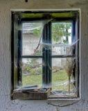 Fönster och rengöringsduk Arkivfoton
