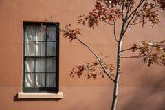 Fönster och vägg, bakgrund. royaltyfri fotografi