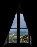 Fönster på Sintra Arkivbilder