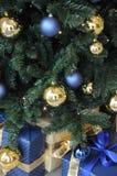FÖNSTER SOM DEKORERAS MED CHRISTIMAS-OBJEKT royaltyfri bild