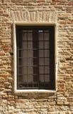 Fönster som göras av järnstång Arkivfoton