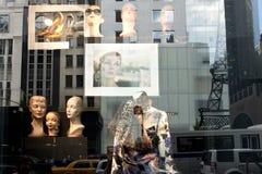 Fönster som shoppar New York Arkivbild