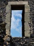 Fönster till himmel Arkivbild