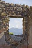 Fönster till Vesuvius på Pompeii, Italien Royaltyfri Foto