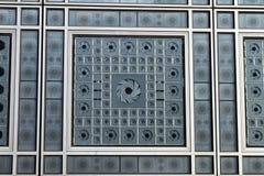 Fönsterdetalj - arabvärldinstitut - Paris - Frankrike Arkivbilder