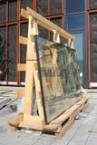 Fönsterexponeringsglas royaltyfria bilder