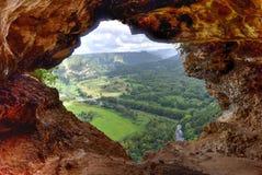 Fönstergrotta - Puerto Rico Fotografering för Bildbyråer