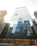 Fönsterlokalvård i New York City Fotografering för Bildbyråer