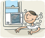 Fönsterluftkonditioneringsapparat Fotografering för Bildbyråer