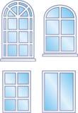 Fönsterramar (vektorn) Arkivfoton