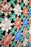 Fönsterskärm med blommor Royaltyfria Foton