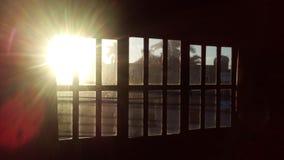 Fönstersolnedgång Royaltyfri Bild