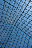 Fönstret för Louvremuseumpyramid Fotografering för Bildbyråer