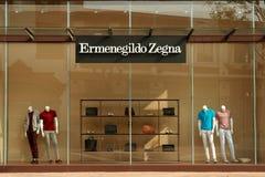 Fönstret shoppar Arkivfoto