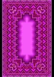 Förädlad orientalisk matta i purpurfärgade skuggor Arkivbilder