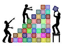 Föräldra- service i utbildning stock illustrationer