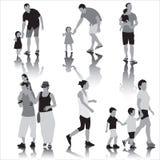 Föräldrar med barn Fotografering för Bildbyråer