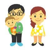 Föräldrar och behandla som ett barn Arkivbild