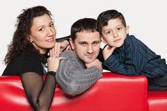 Föräldrar och lite son Royaltyfri Fotografi