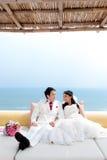 Förälskad brud och brudgum Royaltyfria Foton