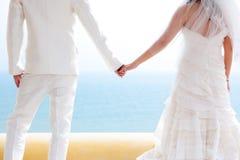 Förälskad brud och brudgum Arkivfoton
