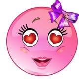 Förälskad emoticon royaltyfri illustrationer