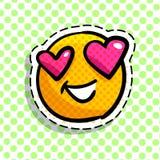 Förälskad emoticon för leende royaltyfri illustrationer