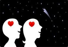 förälskad förälskelse stock illustrationer