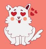 Förälskad gullig hund Royaltyfria Bilder
