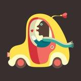 Förälskad illustration för taxichaufför Royaltyfri Foto