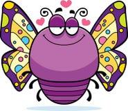 Förälskad liten fjäril Arkivbilder