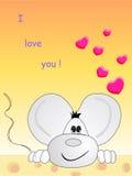 Förälskad mus Arkivfoton