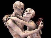 Förälskad zombies Arkivbild