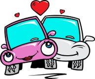 Förälskade bilar Arkivbilder