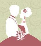 Förälskade brud och brudgum Arkivfoton