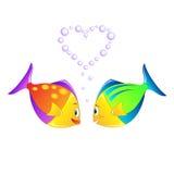 förälskade fiskar Royaltyfria Foton