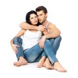 Förälskade härliga sexiga par Fotografering för Bildbyråer