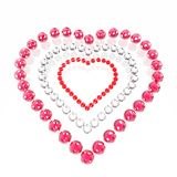 förälskade hjärtaspheres Arkivfoto